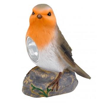 Pájaro jardín naranja-negro