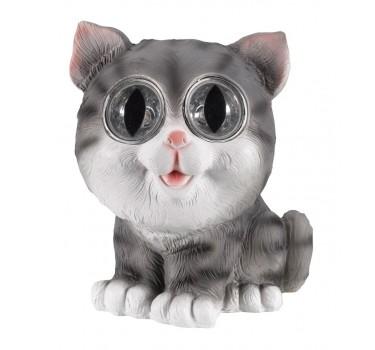 Gato gris decorativo 16 cm.